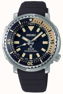 Seiko Prospex | schwarzes Silikonband | schwarzes Zifferblatt SUT403P1