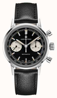 Hamilton Intramatisch | mechanisch | Chronograph | schwarzes Zifferblatt | schwarzes Lederband H38429730