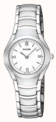 Pulsar Damen Edelstahl analoge Armbanduhr PEGE49X1