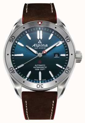 Alpina Herren Alpiner 4 Automatik | braunes Lederband | blaues Zifferblatt AL-525NS5AQ6