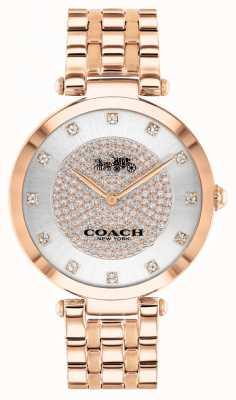 Coach Frauenpark | rosévergoldetes Stahlarmband | weißes Zifferblatt 14503735
