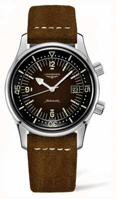 Longines Heritage Legende Taucher braunes Lederband L37744602
