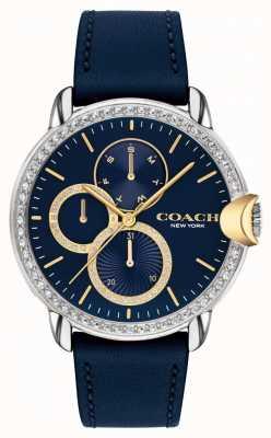 Coach Frauen Arden   blaues Lederband   blaues Zifferblatt 14503734