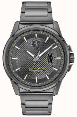 Scuderia Ferrari Herren Grand Tour | graues IP-Stahlarmband | graues Zifferblatt 0830836
