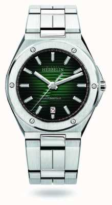 Michel Herbelin Kappe camarat | automatisch | grünes Zifferblatt | rostfreier Stahl 1645/B16