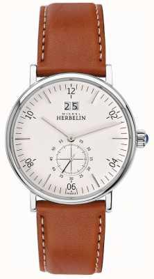 Michel Herbelin Montmartre | cremefarbenes Zifferblatt | braunes Lederband 18247/11GO