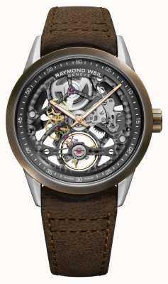 Raymond Weil Freiberufler | Bronze | automatisch | braunes Lederband 2785-SBC-60000