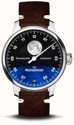 MeisterSinger Stratoskop 43mm Lederband ST982