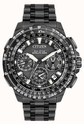 Citizen GPS Navihawk Satellitenwelle | schwarzes Supertitan | cc9025-51e CC9025-85E