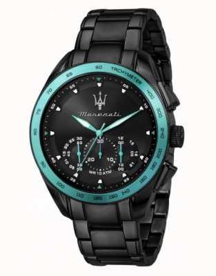 Maserati Traguardo Aqua Edition schwarz plattierte Uhr R8873644002
