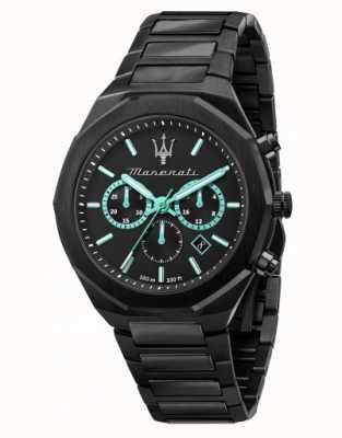 Maserati Stile Aqua Edition schwarz plattierte Uhr R8873644001