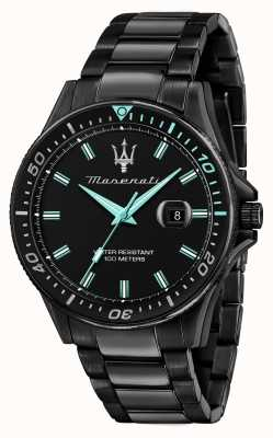 Maserati Sfida Aqua Edition schwarz plattierte Uhr R8853144001