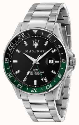 Maserati Sfida Herren zweifarbige schwarz / grüne Lünette R8853140005