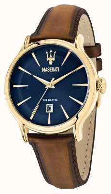 Maserati Epoca Herren braunes Lederband R8851118012