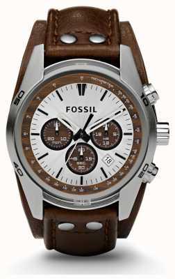 Fossil Herrenuhr Sport-Chronograph braun Lederband Uhr CH2565