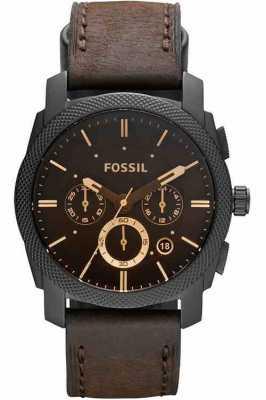 Fossil Mens Maschine Chronograph braun Uhr FS4656
